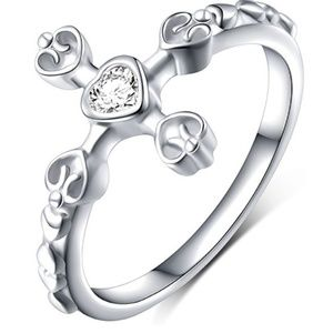 Jewelry - S925 Sterling Silver Classic Cross CZ Eternal Love